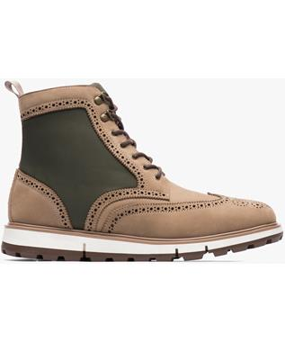 MOTION WING TIP BOOT GAUCHO/OLIVE