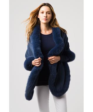 FUR TRIM WRAP TWILIGHT