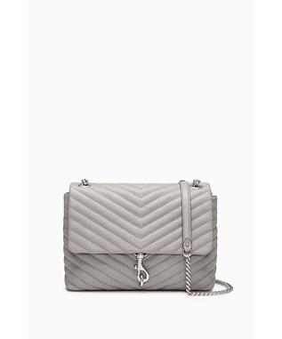 EDIE FLAP SHOULDER BAG GREY