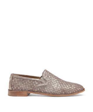 AMANDA WOVEN LOAFER PEWTER