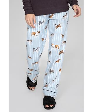 DOGGONE TIRED FLANNEL PANT LT BLUE