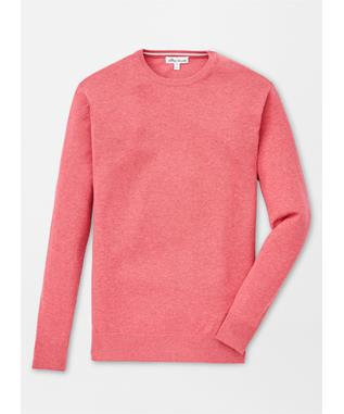 CROWN SOFT CREWNECK SWEATER CAPE RED