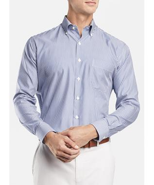 CROWN SOFT STRETCH CAPRI STRIPE SPORT SHIRT SAIL