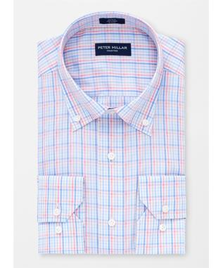 COLLECTION GOLD REEF CHECK SPORT SHIRT BLUE CIELO