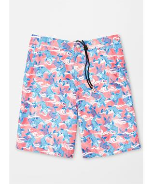 COLLECTION GOOD FORTUNE SWIM TRUNK CORALLO