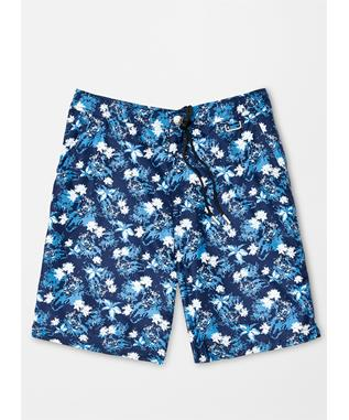 COLLECTION INDIGO FLORAL SWIM TRUNK BARCHETTA