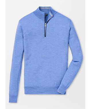 COLLECTION EXCURSIONIST FLEX QUARTER ZIP AVIO BLUE