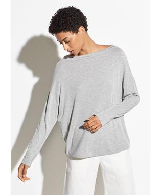 LONG SLEEVE MOCK NECK H GREY