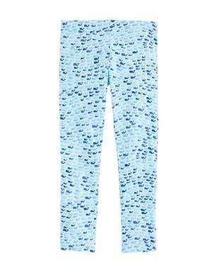 GIRLS SCHOOL OF WHALES ALL DAY LEGGINGS CRYSTAL BL