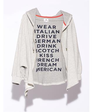 DREAM AMERICAN HOODIE HEATHER GREY