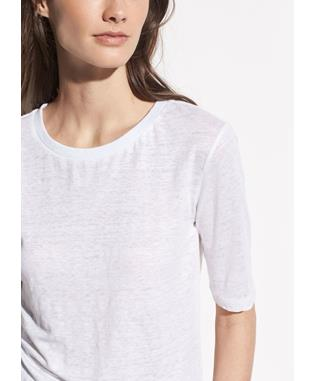 WOMENS ELBOW SLEEVE CREW OPTIC WHITE