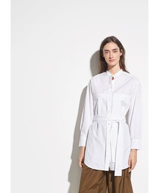 OVERSIZED BELTED SHIRT OPTIC WHITE