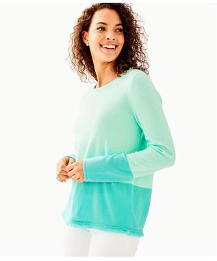 RICA CASHMERE SWEATER  RESORT AQUA SEA CRYSTALS