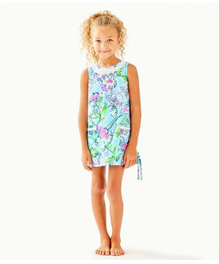 GIRLS LITTLE LILLY CLASSIC SHIFT DRESS 44118Y-COASTAL BLUE