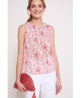 POM PANSY TOP CORAL