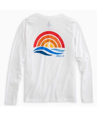 BOYS PARADISE JR. LONG SLEEVE T-SHIRT WHITE