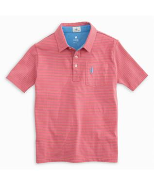 BOYS CLIFFS JR. POLO CORAL REEFER