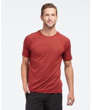 REIGN SHORT SLEEVE  CHERRY RED HEATHER