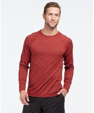 REIGN LONG SLEEVE  CHERRY RED HEATHER
