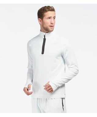 COURTSIDE 1/4 ZIP WHITE