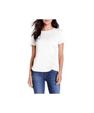 ULTRA JERSEY JESS ASYMETRIC RUCHED TEE