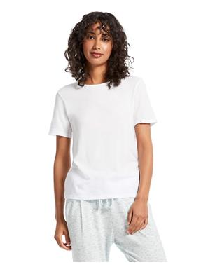BRITTANY RELAXED CREW TEE WHITE