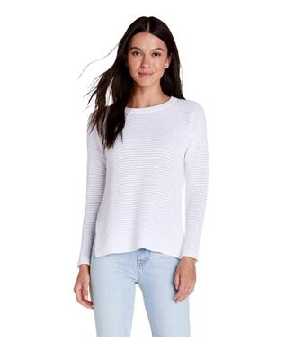 PAIGE SCOOP NECK PULLOVER WHITE