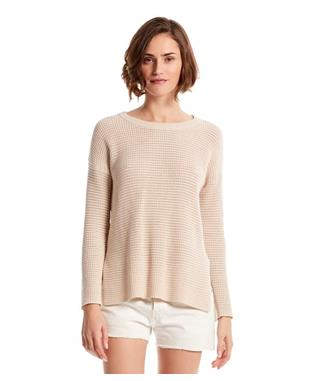 PAIGE SCOOP NECK PULLOVER SEASHELL