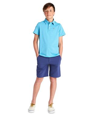 BOYS PERFORMANCE BREAKER SHORTS DEEP COBAL