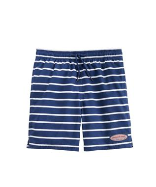 BOYS BREAK STRIPE CHAPPY TRUNKS DEEP BAY