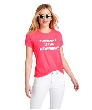 WOMENS THURSDAY ISLAND GRAPHIC TEE NEON WATER