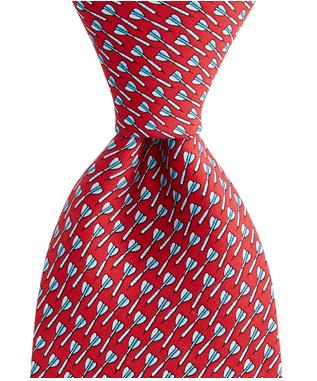 BOYS BULLSEYE PRINTED TIE RED
