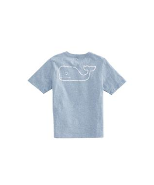 BOYS HEATHERED VINTAGE WHALE POCKET T-SHIRT COASTLINE