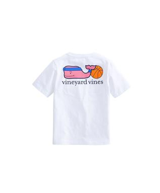 BOYS BASKETBALL WHALE POCKET T-SHIRT WHITE CAP