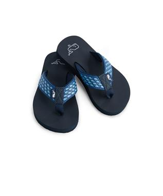 WHALE FLIP FLOPS VINEYARD NAVY