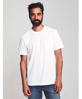 SUNWASHED POCKET TEE WHITE