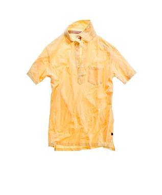 SOLID PIQUE SLOT BUTTON POLO LT YELLOW