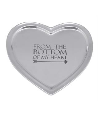 FROM THE BOTTOM OF MY HEART SIGNATURE HEART TRAY  N/A
