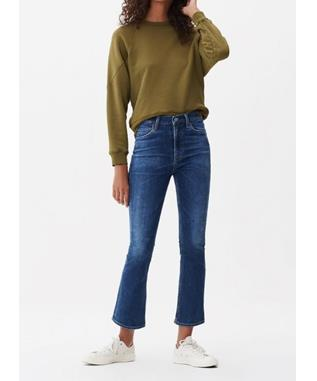 DEMY CROPPED FLARE JEAN CLEARWATER
