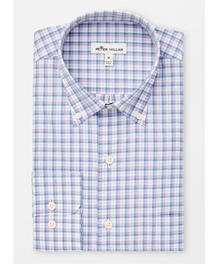 CROWN FINISH CAMDEN BOX CHECK SPORT SHIRT MUSCADINE