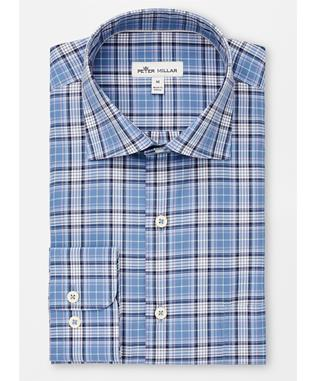 CROWN FINISH CASWELL TARTAN PLAID SPORT SHIRT IBERIAN BL
