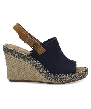 MONICA SUEDE WEDGE NAVY