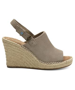 MONICA SUEDE WEDGE DESERT TAUPE