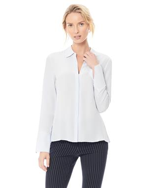 HEPBURN SILK SHIRT PALE BLUE