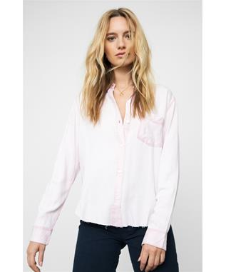 INGRID RAW SHIRT DUSTY ROSE