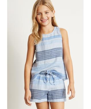 GIRLS EASY FLOWY SHORT SHADES OF BLUE