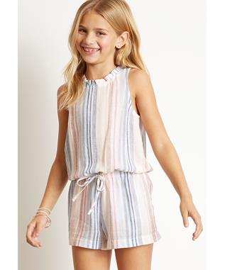 GIRLS CABANA ROMPER IBIZA STRIPE