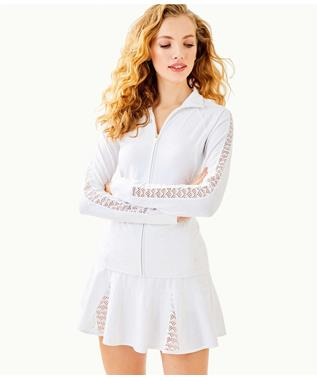 LUXLETIC CONELLY TENNIS JACKET 115 RESORT WHITE