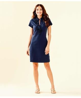 CLARY POLO DRESS 408 TRUE NAVY