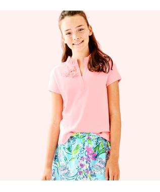 GIRL THIERRY POLO 683-CORAL REEF